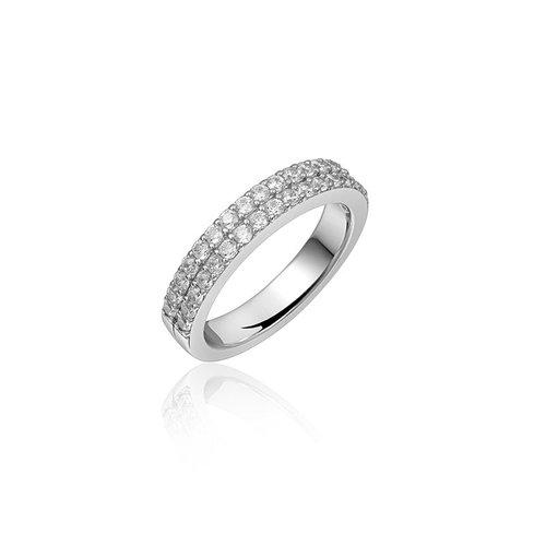 Zilveren ring met zirconia R067 56