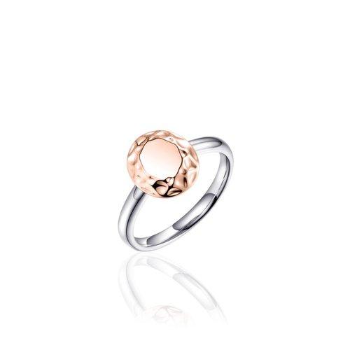 Zilveren ring met rose R347R 56