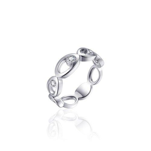 Zilveren ring met zirconia R912 56