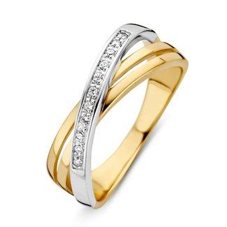 Huiscollectie Bicolor Ring Met Zirkonia