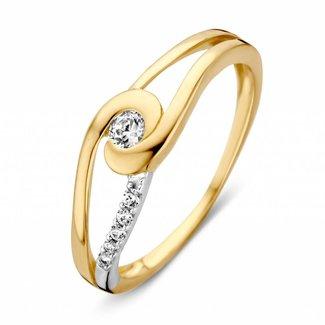 Huiscollectie Ring bicolor zirkonia RV426163-56