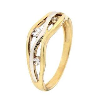 Van Dam Juwelier Ring bicolor zirkonia RB425488-56