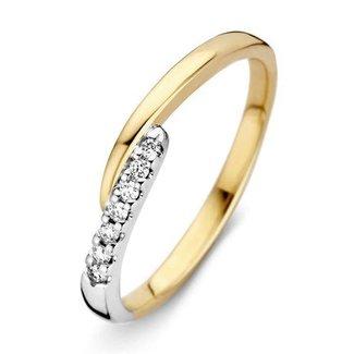 Huiscollectie Ring bicolor briljant RG416303-56