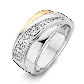 Huiscollectie Ring zilver/goud zirkonia RF626039-58