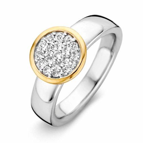 Huiscollectie Ring zilver/goud zirkonia RF625244-56