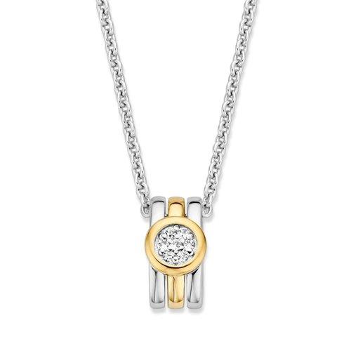 Huiscollectie Hanger zilver/goud zirkonia HF625955
