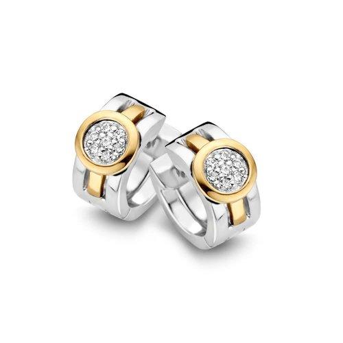 Huiscollectie Creool zilver/goud zirkonia OF625959