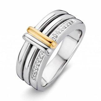 Huiscollectie Ring zilver/goud zirkonia RF625217-56