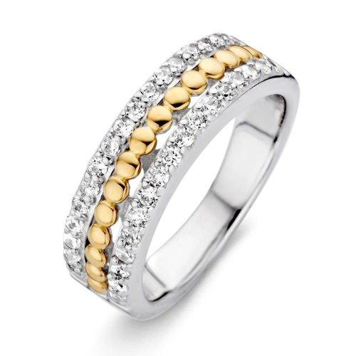 Huiscollectie Ring zilver/goud zirkonia RF625215-56