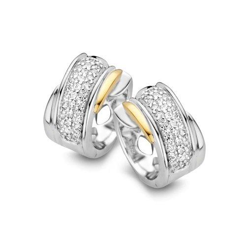Huiscollectie Creool zilver/goud zirkonia OF625234