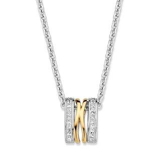 Van Dam Juwelier Hanger zilver/goud zirkonia HF625952