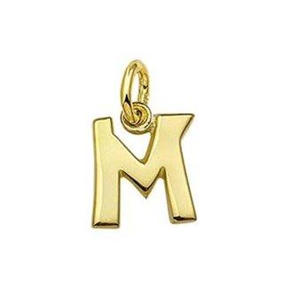 Huiscollectie Gouden  Bedel letter M 4018489 10mm