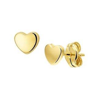 Huiscollectie Gouden Oorknoppen hart 4018273 4mm