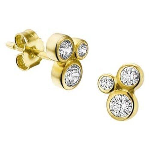 Gouden Oorknoppen zirkonia 4017604