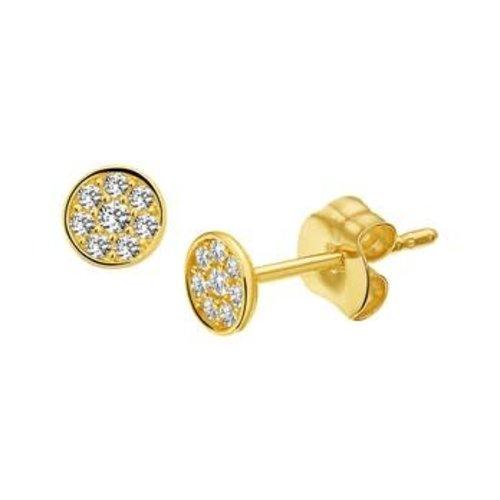Huiscollectie Gouden Oorknoppen zirkonia 4018286