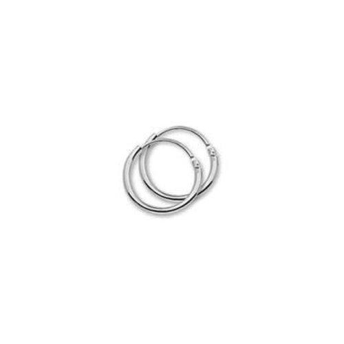 Witgouden oorsieraden ronde buis 4104294 13mm