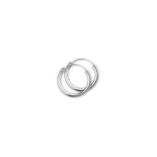 Witgouden oorsieraden ronde buis 4104298 13mm