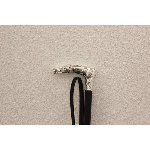Luxe Paardrijzweepje met Echt Zilveren Handvat 4309
