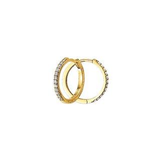 Huiscollectie Gouden Klapcreolen zirkonia 4018318