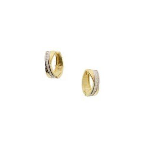 Gouden Klapcreolen zirkonia 4018314