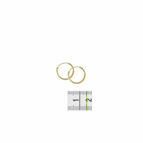 Huiscollectie 14krt Geelgouden Creolen 1.3mm x 15mm