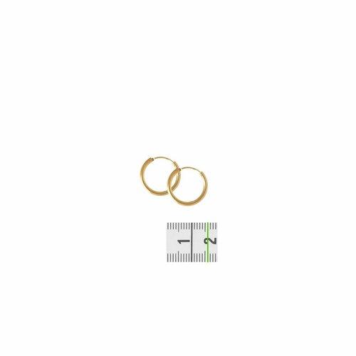 Huiscollectie Gouden oorsieraden ronde buis 4018327 16mm