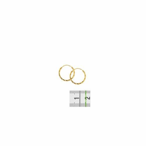 Huiscollectie Gouden oorsieraden vierkante buis 4001450 15mm