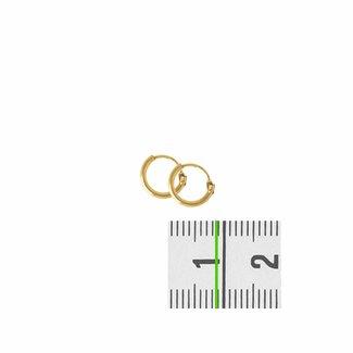 Huiscollectie Gouden oorsieraden ronde buis 4018320 9mm