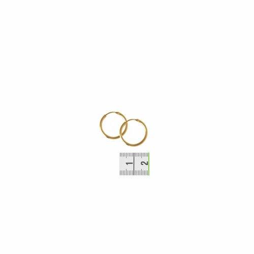 Huiscollectie Gouden oorsieraden ronde buis 4018328 20mm