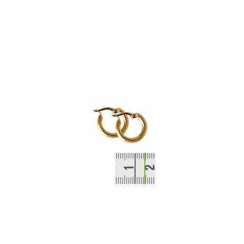 Huiscollectie Gouden oorsieraden ronde buis 4018329 14mm
