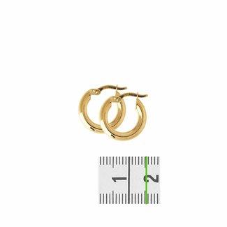 Huiscollectie Gouden oorsieraden ronde buis 4018334 16mm