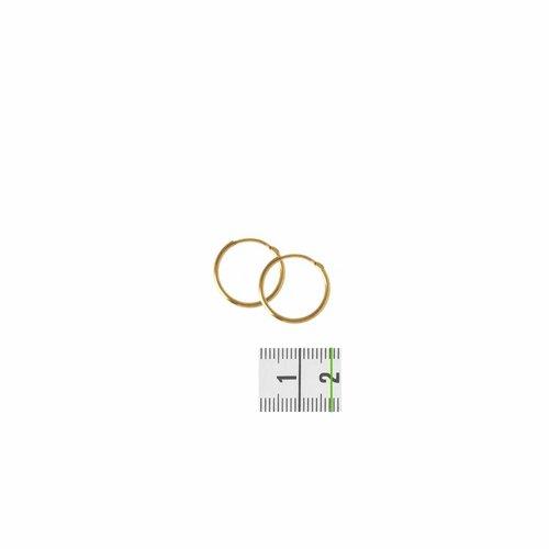 Huiscollectie Gouden oorsieradenronde buis 4018324 17mm