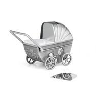 Zilverstad Spaarpot Kinderwagen Met Graveerplaat 6010061
