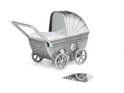 Zilverstad Zilverstad Spaarpot Kinderwagen Met Graveerplaat 6010061