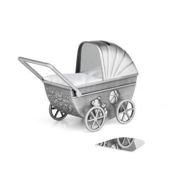 Zilverstad Zilverstad Spaarpot Kinderwagen Met Graveerplaat | 6010061