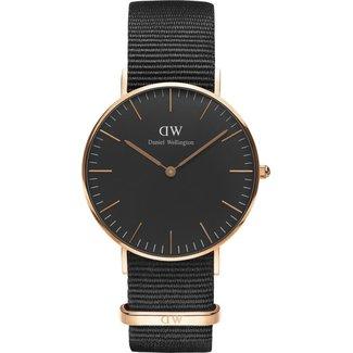 Daniel Wellington Daniel Wellington DW00100151 Classic Black Cornwall - Horloge - Textiel - Zwart - Ø 36 mm
