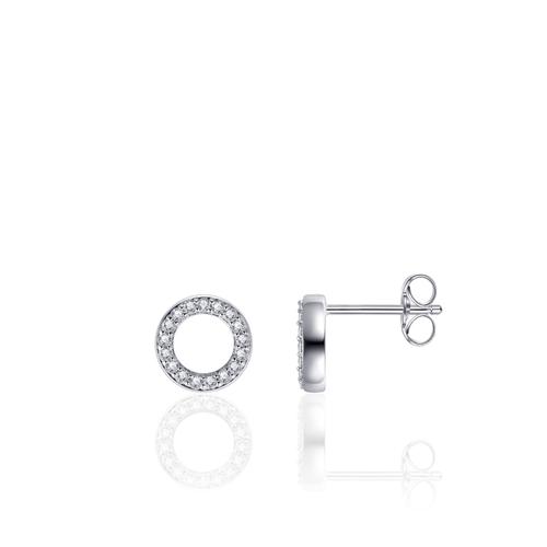 Huiscollectie Zilveren Oorknoppen met Zirconia| E1008