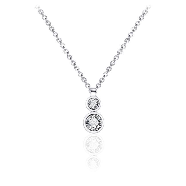 Zilveren Collier met Zirconia | N1038