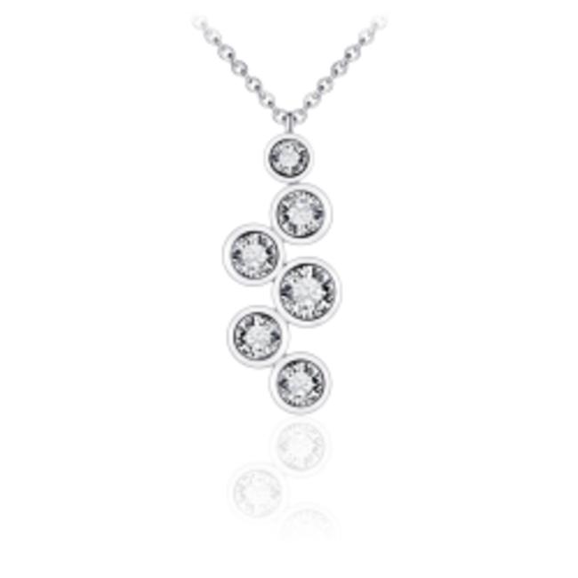 Zilveren Collier met Zirconia | N1047