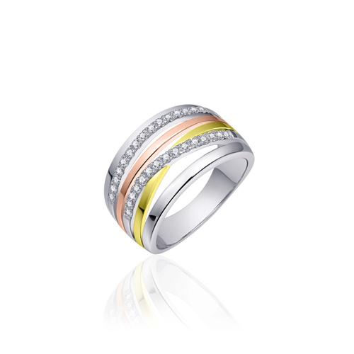 Huiscollectie Zilveren Ring R055T mt 56