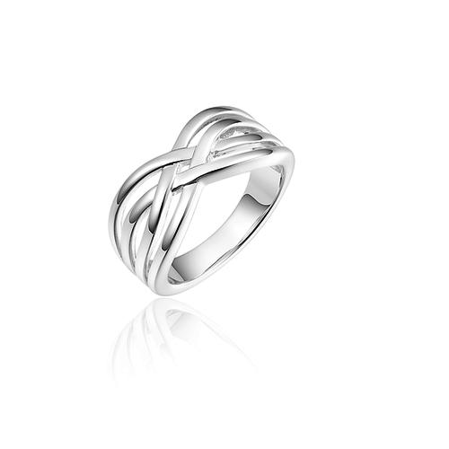 Zilveren Ring   R076 mt 54