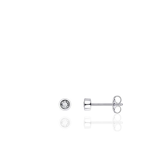 Huiscollectie Zilveren Oorknoppen met Zirconia E1000