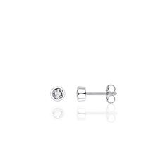 Zilveren Oorknoppen met Zirkonia