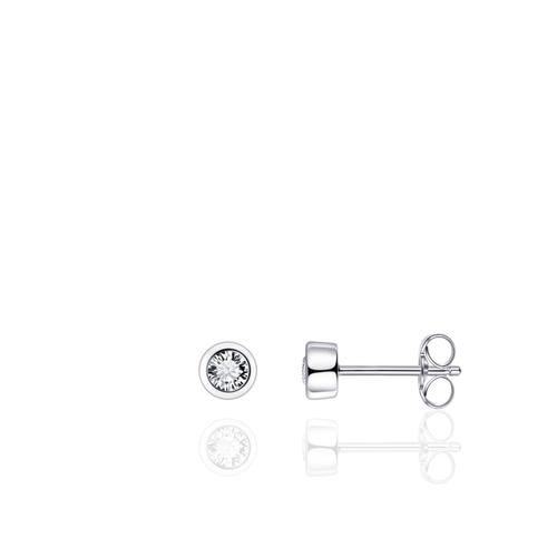Huiscollectie Zilveren Oorknoppen met Zirconia E1001