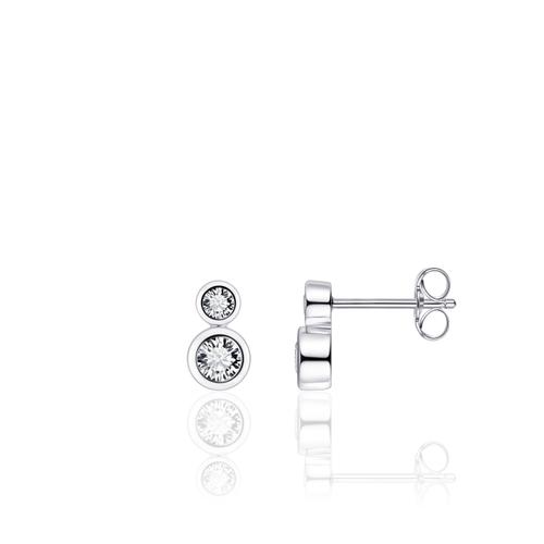 Zilveren Oorknoppen met Zirconia   E1003