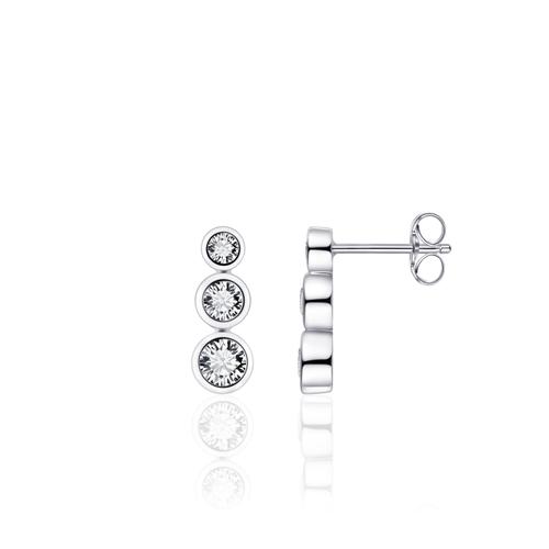 Huiscollectie Zilveren oorknoppen met Zirconia E1004