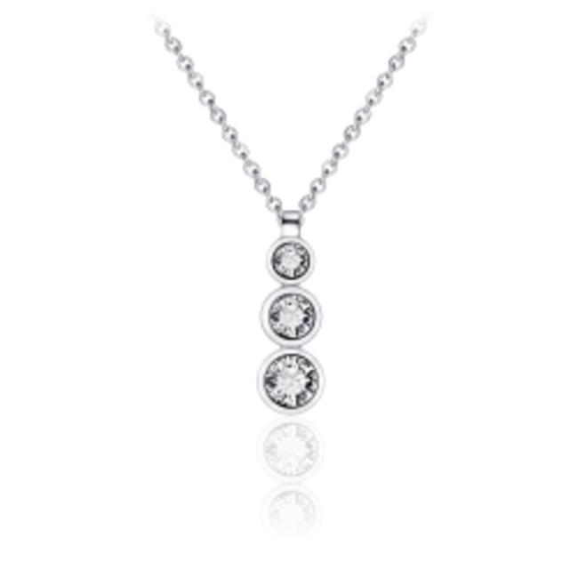 Huiscollectie Zilveren Collier met Zirconia Hanger | N1039