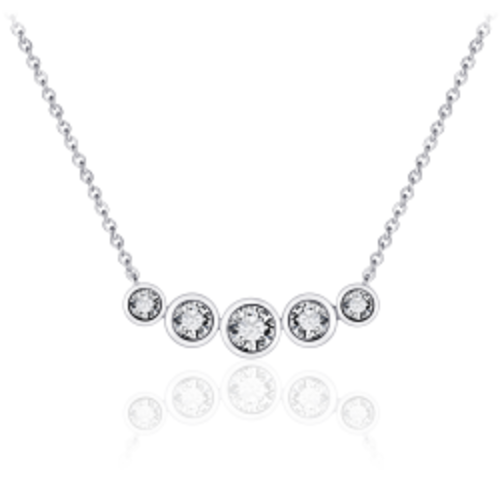 Zilveren Collier met Zironia | N1041