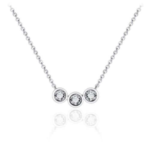 Zilveren Collier met Zirconia   N1042