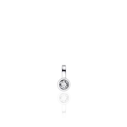 Zilveren Hanger met Zirconia   P1039